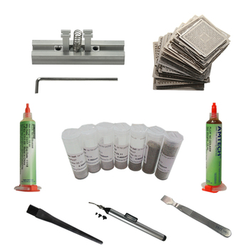 цена на 144 pcs BGA Reballing Stencils Kit  bga station solder ball flux tweezer BGA Reballing Stencil for Phone Reballing Repair