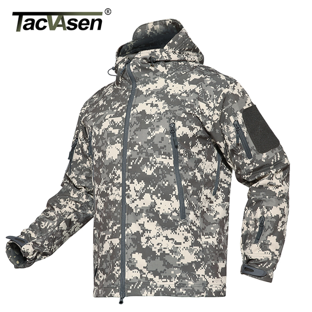 c4f02187412c0 TACVASEN Camouflage Men Jacket Coat Military Tactical Jacket Winter  Waterproof Soft Shell ...