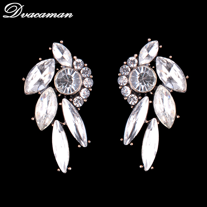 Dvacaman 2017 Hot Sale New Design Simple Small Crystal Earrings Fashion Women Statement Earring Girl Party Stud Earring 7927