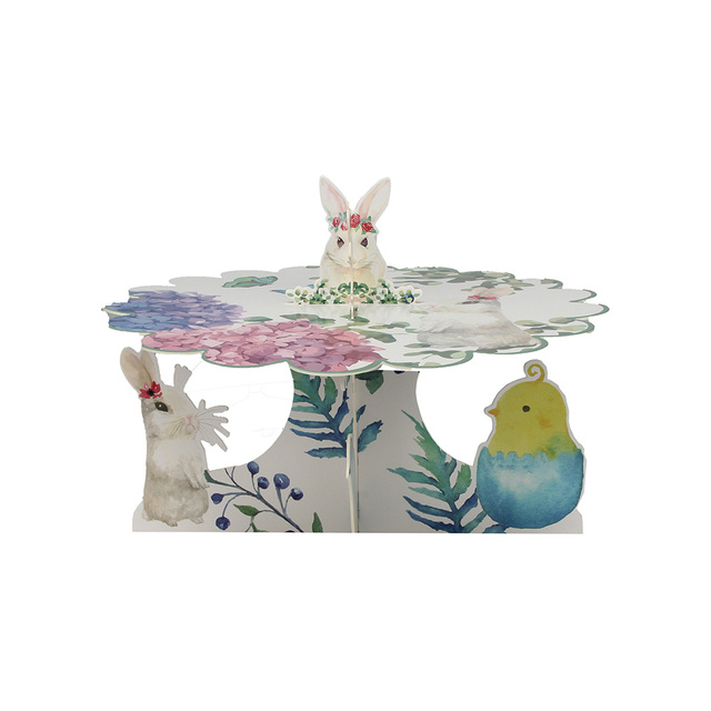 Vintage Paper Easter Bunny Cupcake Stand Easter Bunny