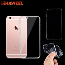 HAWEEL Soft Transparent Case For iPhone 6 6Plus 0.75mm Ultra-thin Cover Case For iPhone 7 TPU Protective Case w 1 0 3mm ultra thin protective pc back case cover for iphone 6 transparent grey