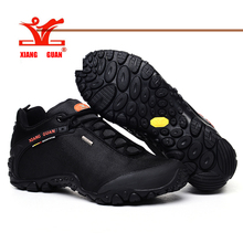 Hot Sell ! Hiking Boots Outdoor Sneakers Suede Mountain male black Climbing Camping Shoes Trekking Men Shoes  ID 81283