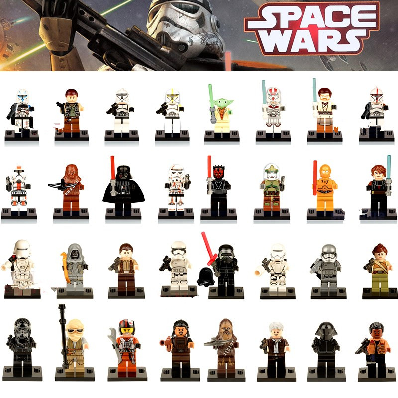 Hot Star Wars Single Sale Building Blocks Yoda Leia Figure Boba BB8 Fett Clone Trooper Darth Vader Kylo Ren starwars Models Toys аксессуар hoco rapid x1a usb type c white