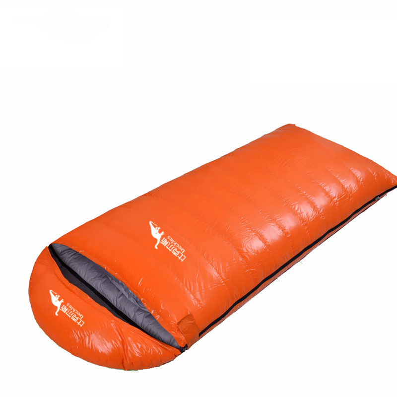 Sleeping bag duck down outdoor winter high fill power ultralight adult camping hiking envelope down sleeping bags 800 1000g sleeping bag of 800 fill power goose down for 18 degrees celsius outdoor camping qingyun 700g filling l and r size