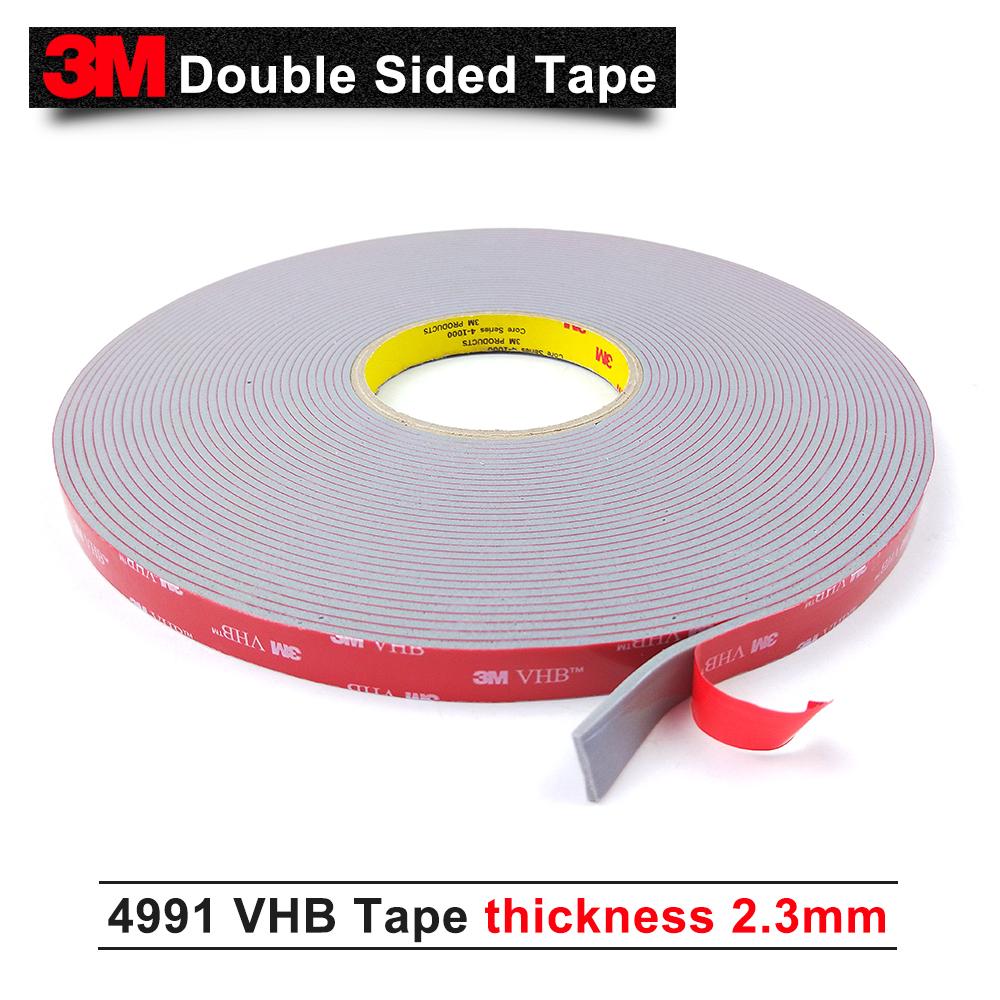 3M acrylic tape/VHB 4991adhesive double sided tape/Outstanding durability performance/0.5 in*18yd*5rolls/we can offer other size 3m good 5952 vhb tape 3m doulbe vhb sided tape high sticky acrylic two sided foam tape 19mm 33m 5rolls we can offer any size