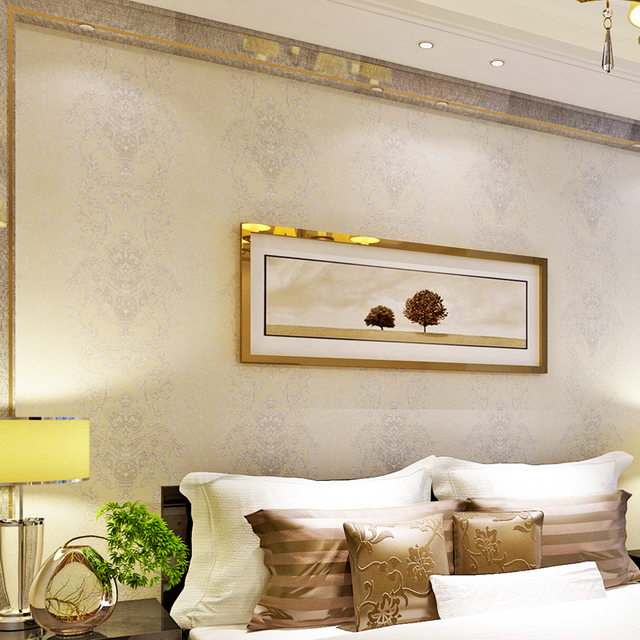Hanmero Simple design Soundproof Wallpaper Creamy White Color Removable PVC  Vinyl Wallpaper Bedroom Decoration QZ0383 - Aliexpress.com : Buy Hanmero Simple Design Soundproof Wallpaper