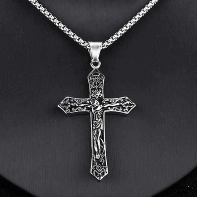 2019 новое ожерелье с крестом для мужчин и женщин пара ожерелье Мода Золото и серебро Ожерелье Подвеска Крест Ювелирные изделия Подарки