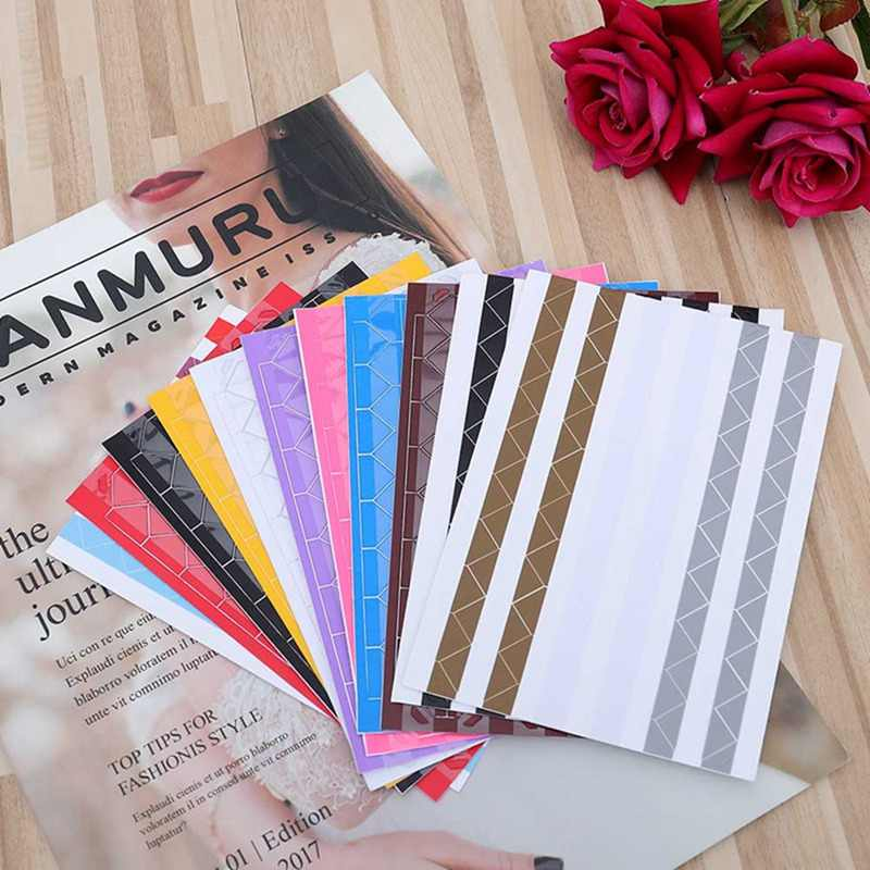 1 Sheet=102 Pcs   Mini High Hand-Made Material Album Decor Sticker Retro Pvc Photo Corner 11 Colors!!!!