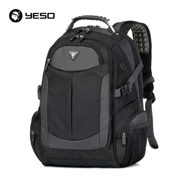 Outono novo laptop mochila yeso mochilas dos homens da marca à prova d' água saco de viagem oxford sacos de escola para adolescentes mochila preta