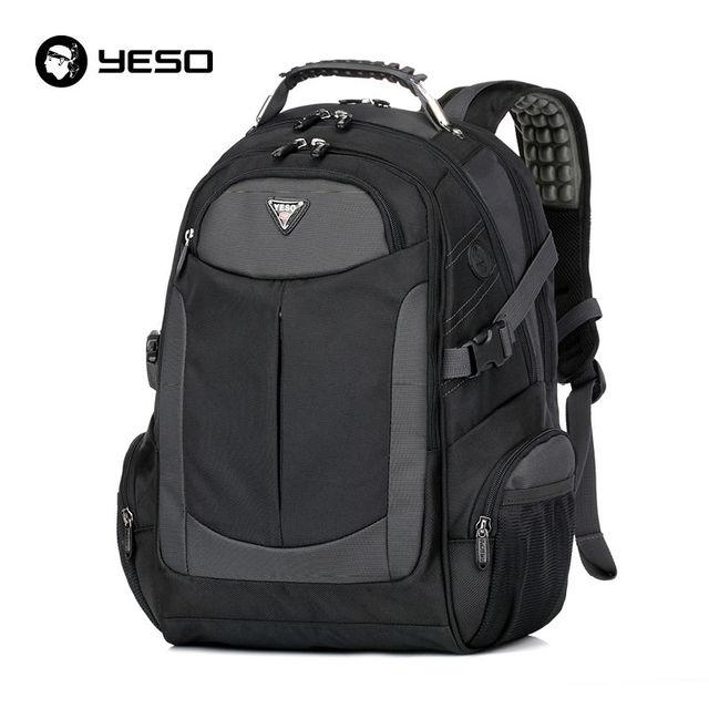 YESO Business Casual Laptop Backpack Men 2019 Waterproof Women's Backpacks Bags Large Capacity Black Computer Backpack Mochilas