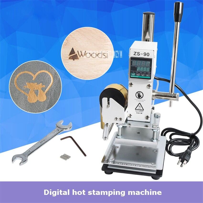 ZS-90 numérique Sisplay manuel feuille chaude estampage Machine Portable bois artisanat en cuir gaufrage chaud estampage Machine 110 V/220 V 300 W