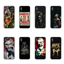 Fashion Conor McGregor UFC black Soft Silicone TPU Cover Phone Case For iPhone X10 5 5S SE 6 6SPlus 7 8 Plus XR XS MAX ufc conor mcgregor the king soft tpu silicone cover phone case for iphone 6splus 7plus 8plus se 5 5s 6 6s 7 8 max xr xs x10