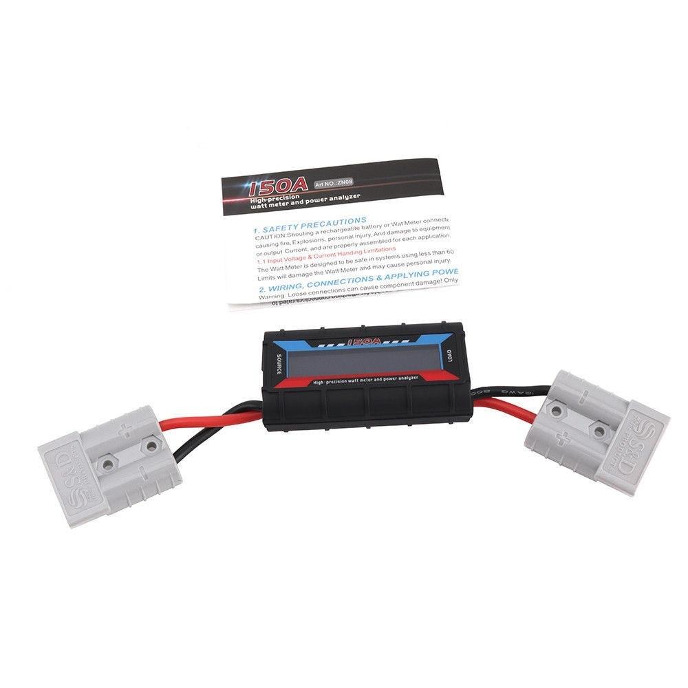 150A Watt Power Analyzer Meter LCD Digital Volt Solar Amp Plug Operates 4V-60V With Anderson Plug