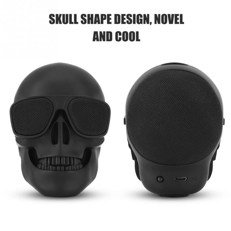 New Skull Head Speaker Portable Mini Wireless Bluetooth Stereo Speaker  2