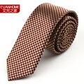 2016 New Fashion gravatas Ties For Men waterproof tie Man tie 5cm claretred houndstooth gravata slim l5062 men's Brands Neckties