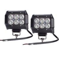 2 יחידות עבודה קלה מנורת בר אור 18 W קריס שבב LED 4