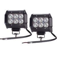 2pcs 4 Inch 18W Cree LED Work Light Lamp For Motorcycle Tractor Boat Off Road 4WD