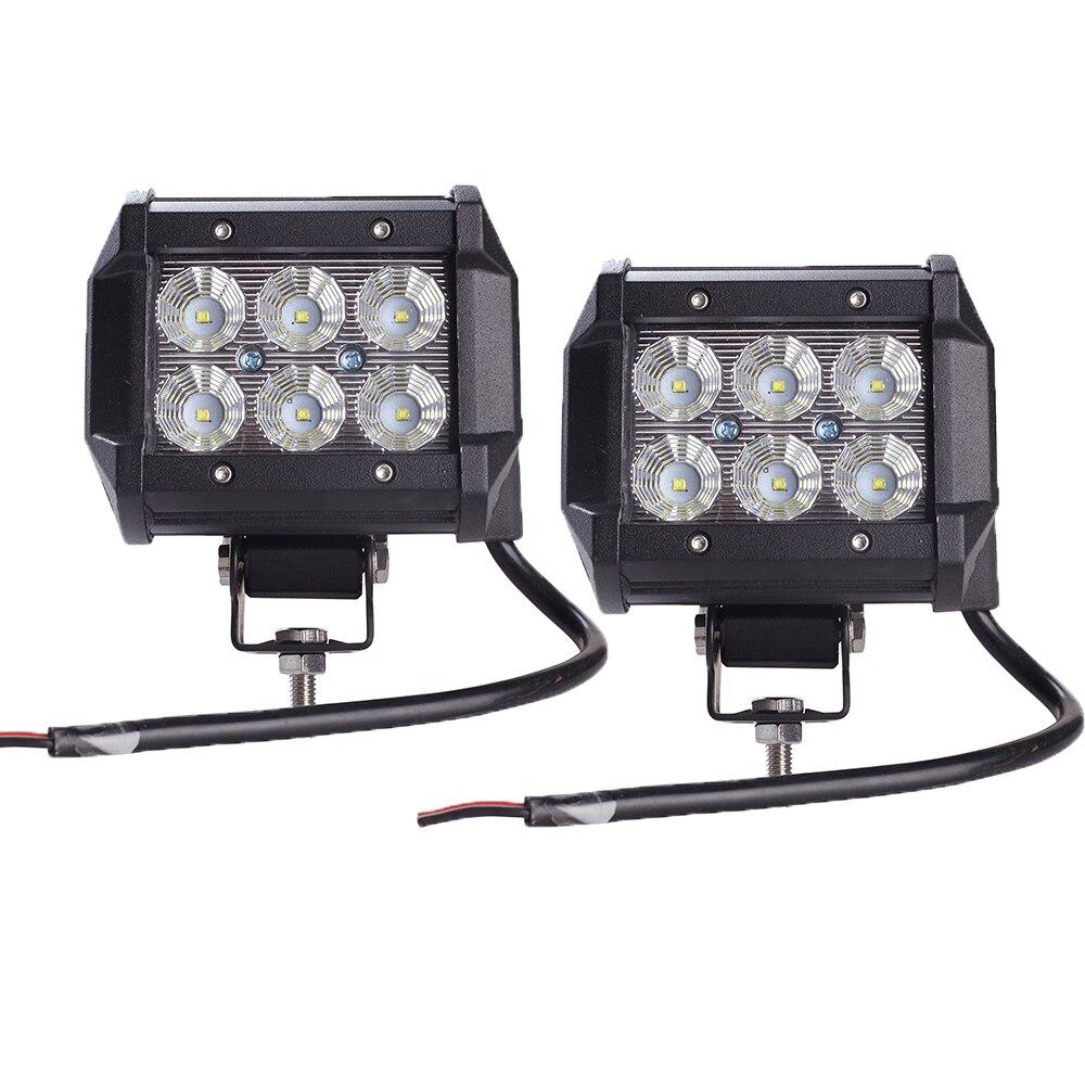 2 pz Car Led Light Bar 18 W Luce del Lavoro Della Lampada del Cree Circuito Integrato del LED 4
