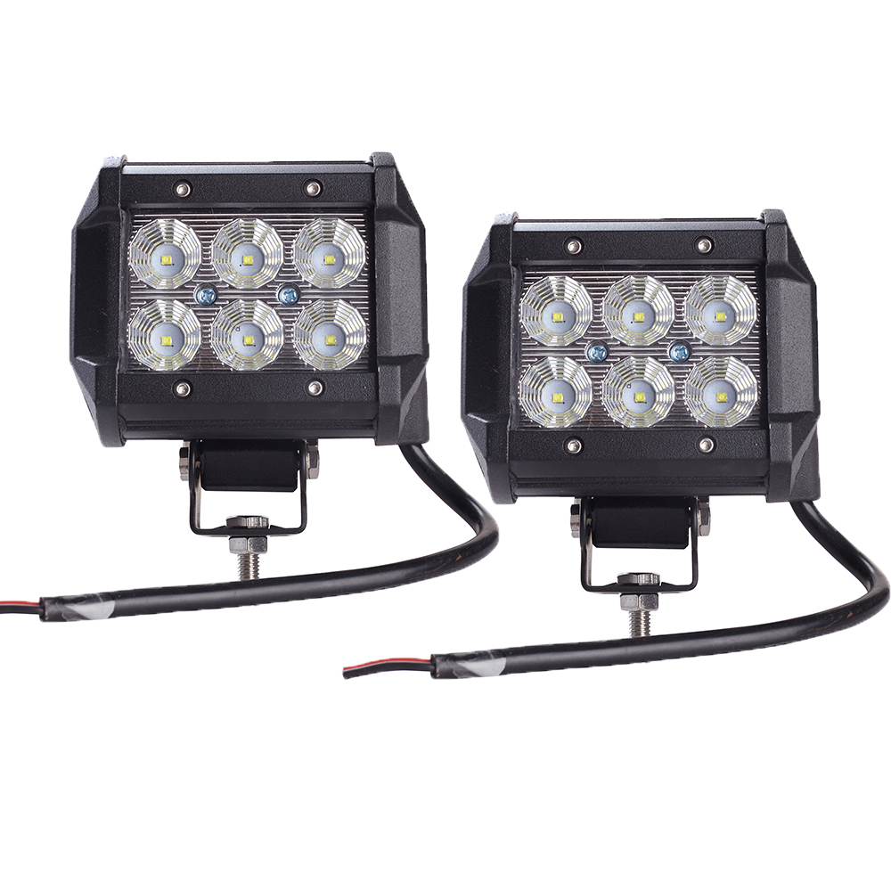 2 stücke Auto Led-lichtleiste 18 Watt Arbeitslicht Lampe Cree Chip LED 4