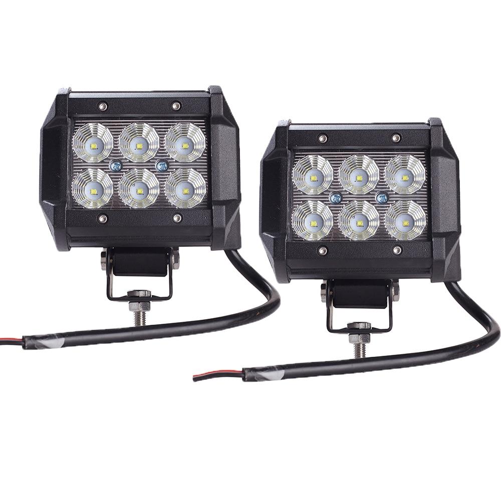 Tractor Safety Led Lights : Pcs light bar w work lamp cree chip led