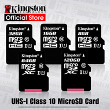 Karta pamięci Kingston Micro SD Class10 carte pamięć sd 128GB 32GB 64GB 256GB 16G karta pamięci SD/TF 8G 512G microSD na telefon(China)