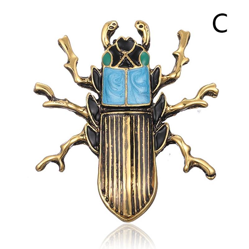 Пчела, жук, краб, муравьи, улитка, броши с птицами, Скорпион, стразы, Винтажные Украшения в виде животных, брошь - Окраска металла: 17