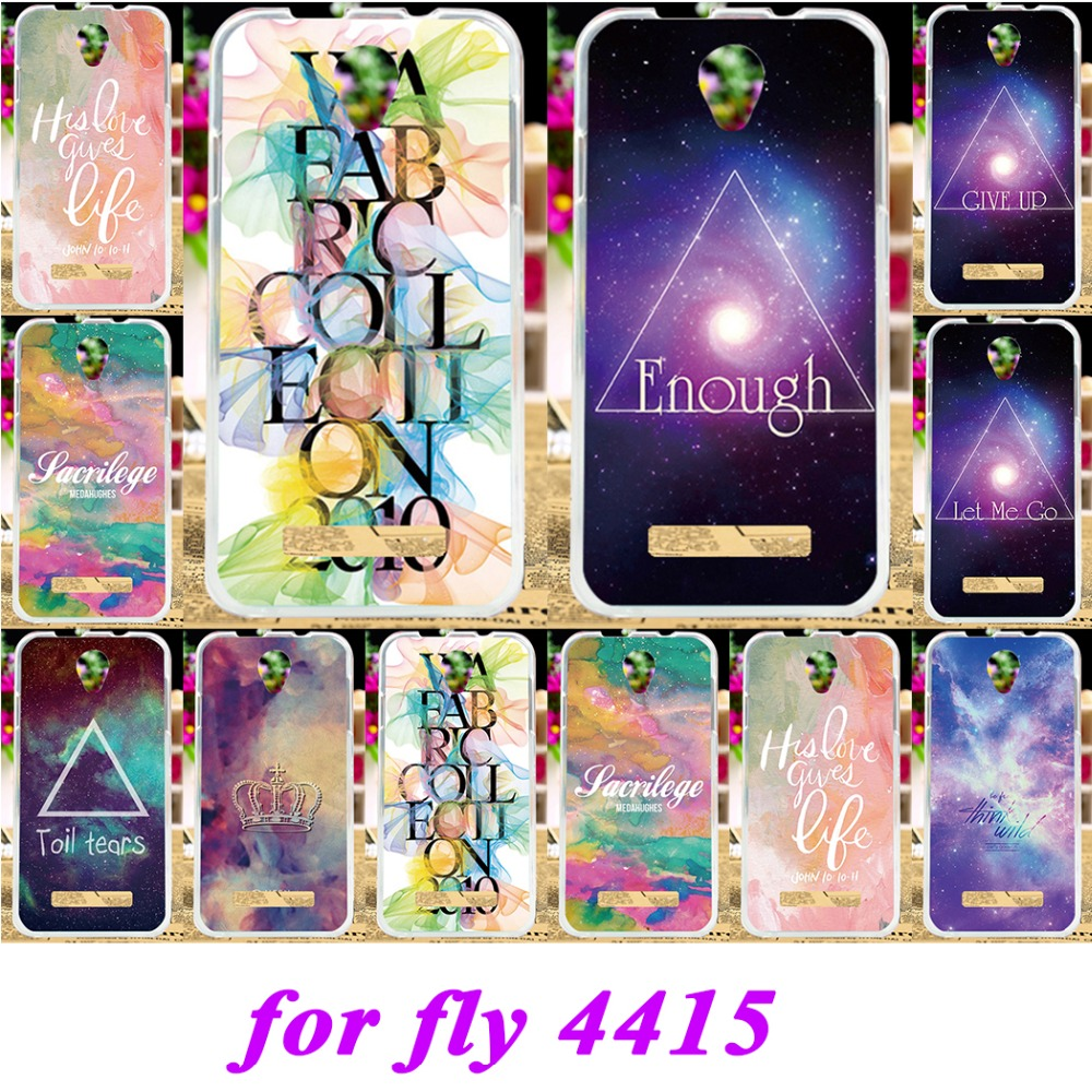 Taoyunxi Soft Silicon TPU Phone Covers Cases For fly iq4415 iq 4415 quad era style 3 Cases Stars Sky Painted Shell back cover