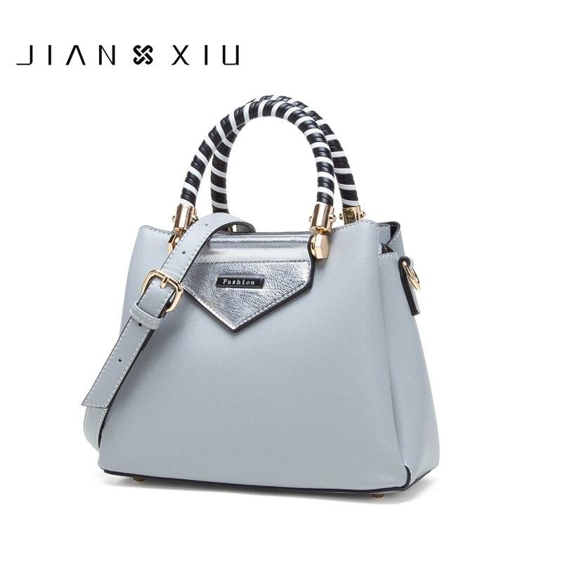 JIANXIU Brand Women Pu Leather Handbag Female Luxury Top hand Tote Bag Multi Space 2018 New