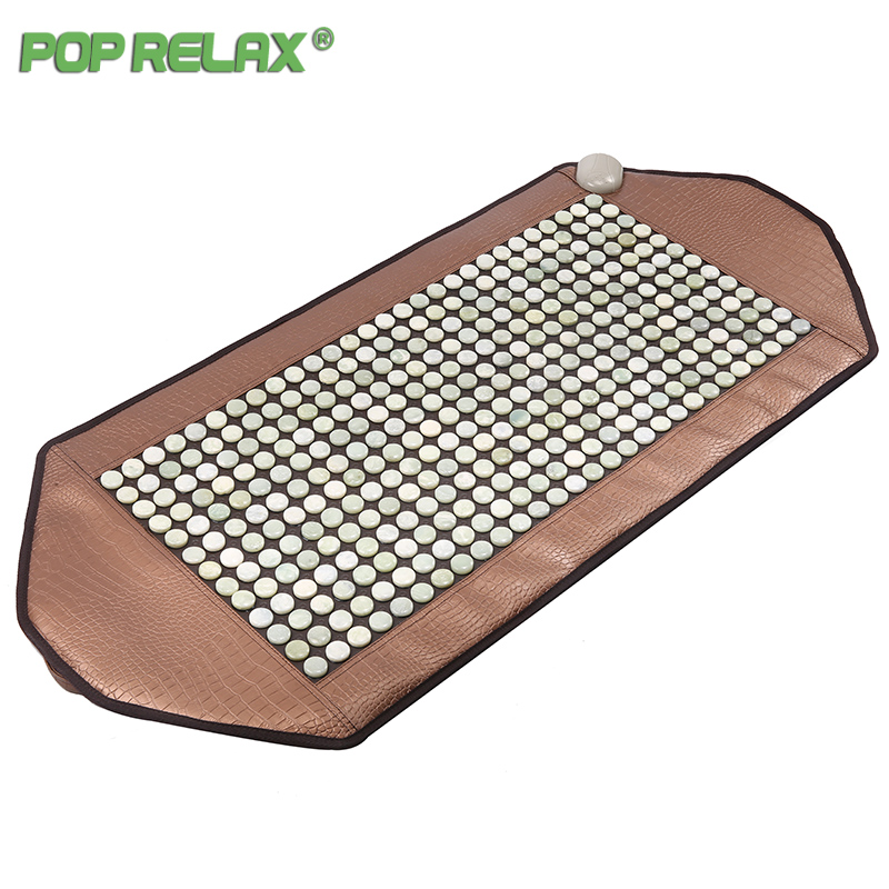 Pop Relax Natural Jade Stone Korea Health Mattress Body Pain Relief Warm Physiotherapy Electric Heating Pad Mat Thermal Mattress 2016 electric heating massage jade stone mattress korean mattress wholesaler 1 2x1 9m