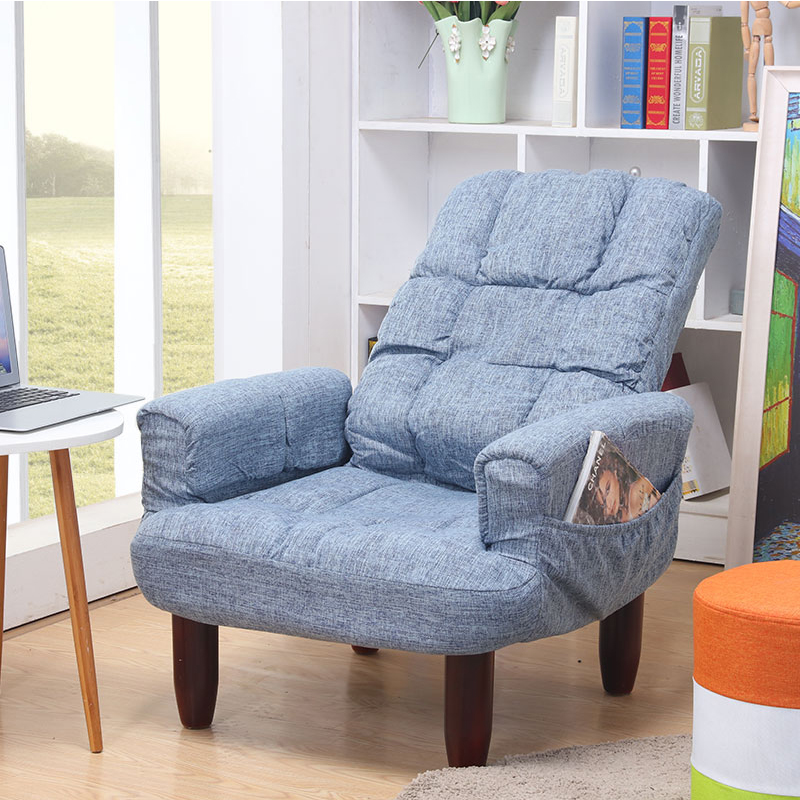 Floor Folding Single Seat Sofa Modern Fabric Japanese ...