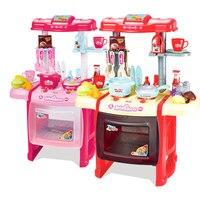 Дети играют игрушка кухонный гарнитур моделирование кухонная посуда и посуда набор игрушки для детей.
