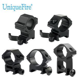UniqueFire QD 25,4mm/30mm anillo de montaje de alcance alto/bajo perfil 20mm Dovetail Picatinny Weaver carril de montaje de aluminio soporte táctico