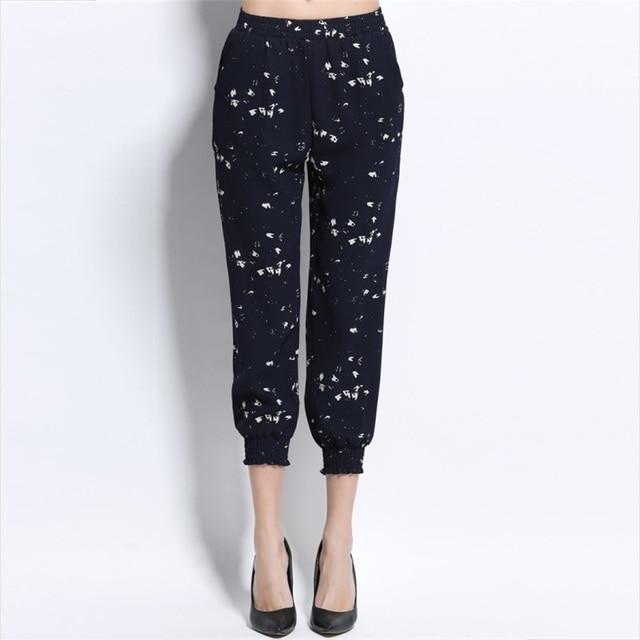 Moda spots dots Harem Mujeres Cintura Elástico Longitud del Tobillo de Ocio  bloomers pantalones Pantalones de 2b5c6f4a5046
