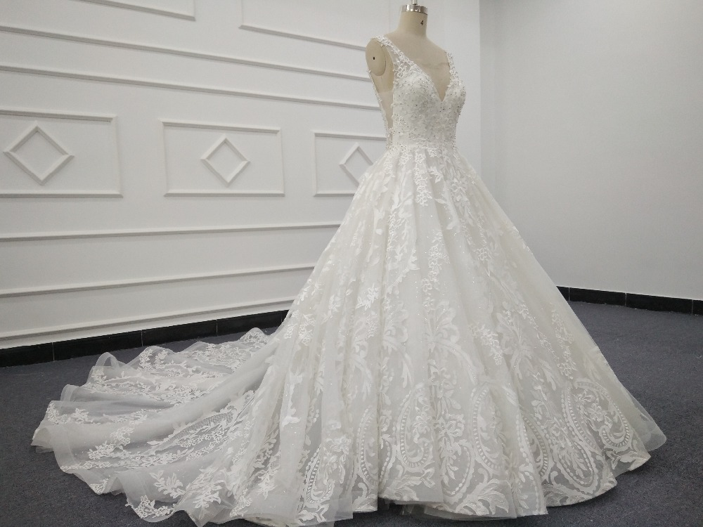 Eslieb High End Custom Made Lace Wedding Dresses 2019