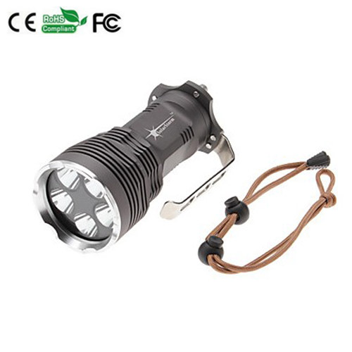 7000LM 6 x CREE XM-L T6 tactical Flashlight Camping Flashlight portable Torch led light Waterproof outdoor tourism 6000lumens bike bicycle light cree xml t6 led flashlight torch mount holder warning rear flash light
