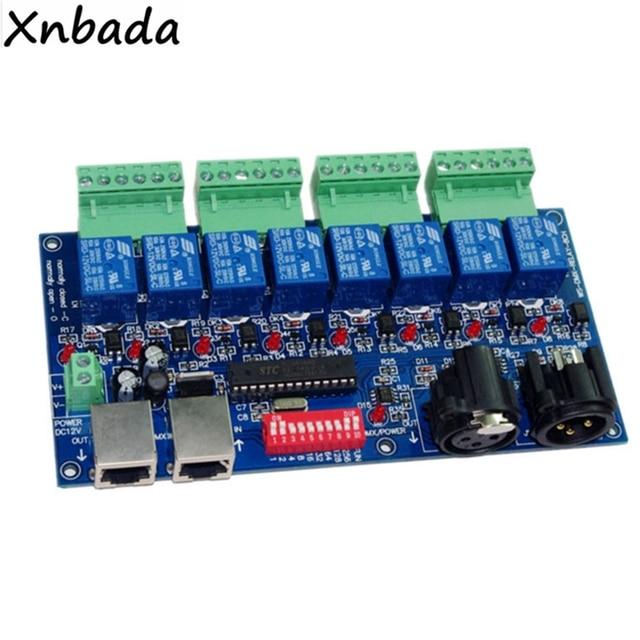 8CH DMX Relay Switch DMX512 Controller Relay Output 8CH DMX512 Relay Control 8Ways Relay Switch(Max 10A)