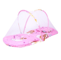 New Design Summer Foldable Baby Infant Bed Canopy Mosquito Net With Cotton Padded Mattress Pillow