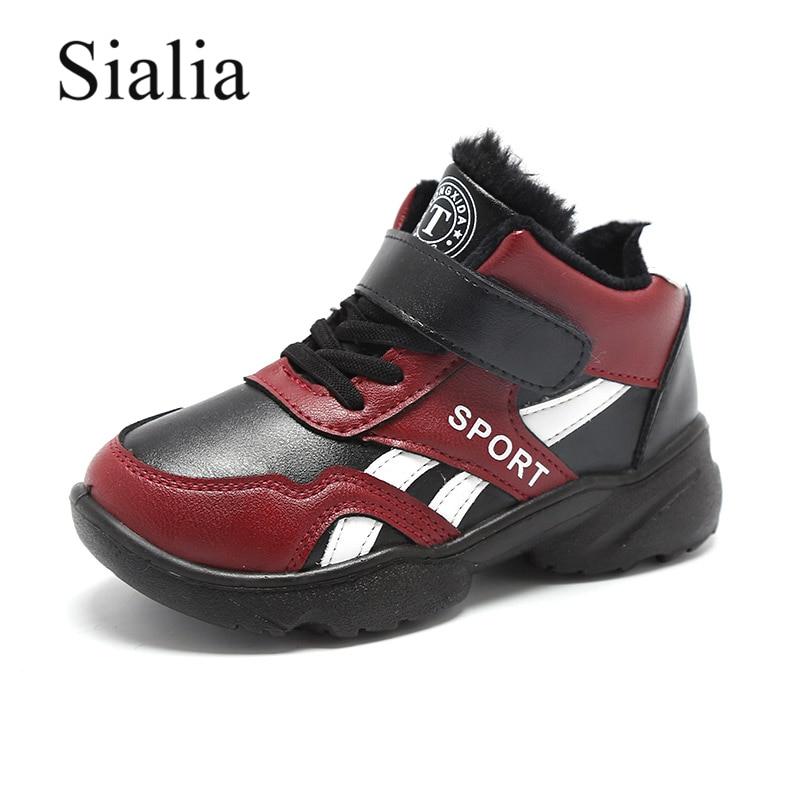 Sialia Winter Snow Shoes Boys Sneakers Girls Casual Shoes Kids Footwear Sport Trainer Outdoor School Warm Running zapatillas