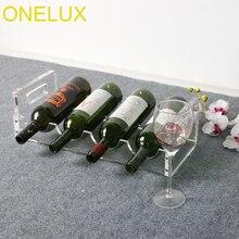 Хрустальный акриловый держатель для винных бутылок для 4 бутылок-плоская упаковка