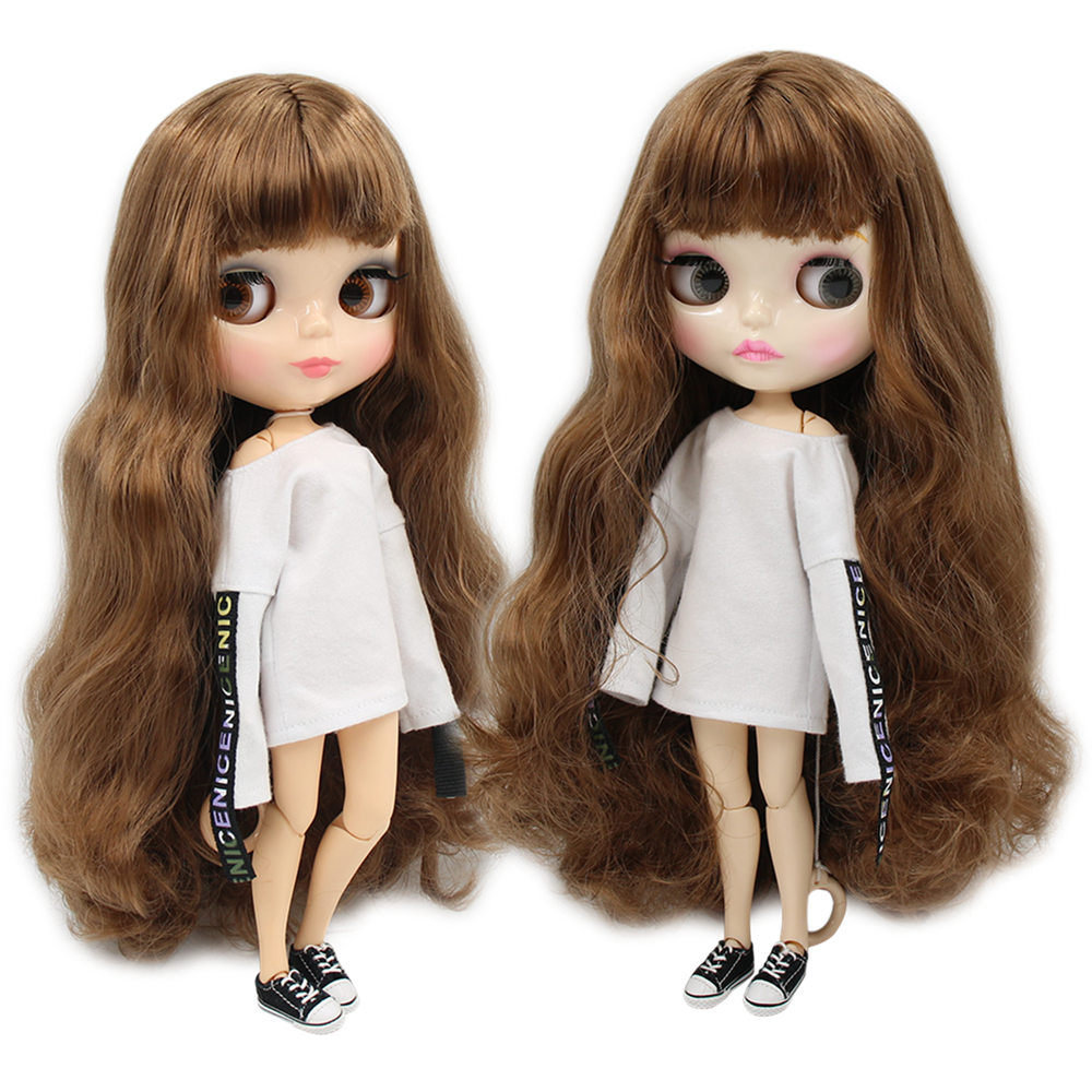 factory blyth doll brown hair joint body bjd 30cm BL9158 bjd shiny face doll factory blyth doll custom your doll choose hair face body skin only one doll design your own doll