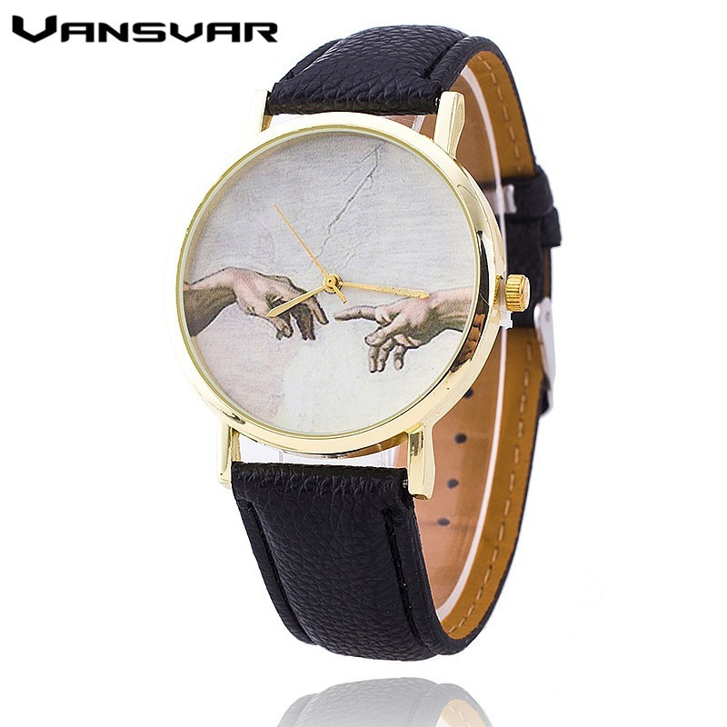 VANSVAR Fashion Women Hand Dial Quartz Watches Leather Casual Wrist Watch Reloj Mujer Relogio Feminino montre Clock 1763 relojes mujer classic new fashion casual watches women dress quartz watch mickey hollow dial leather wristwatch relogio feminino