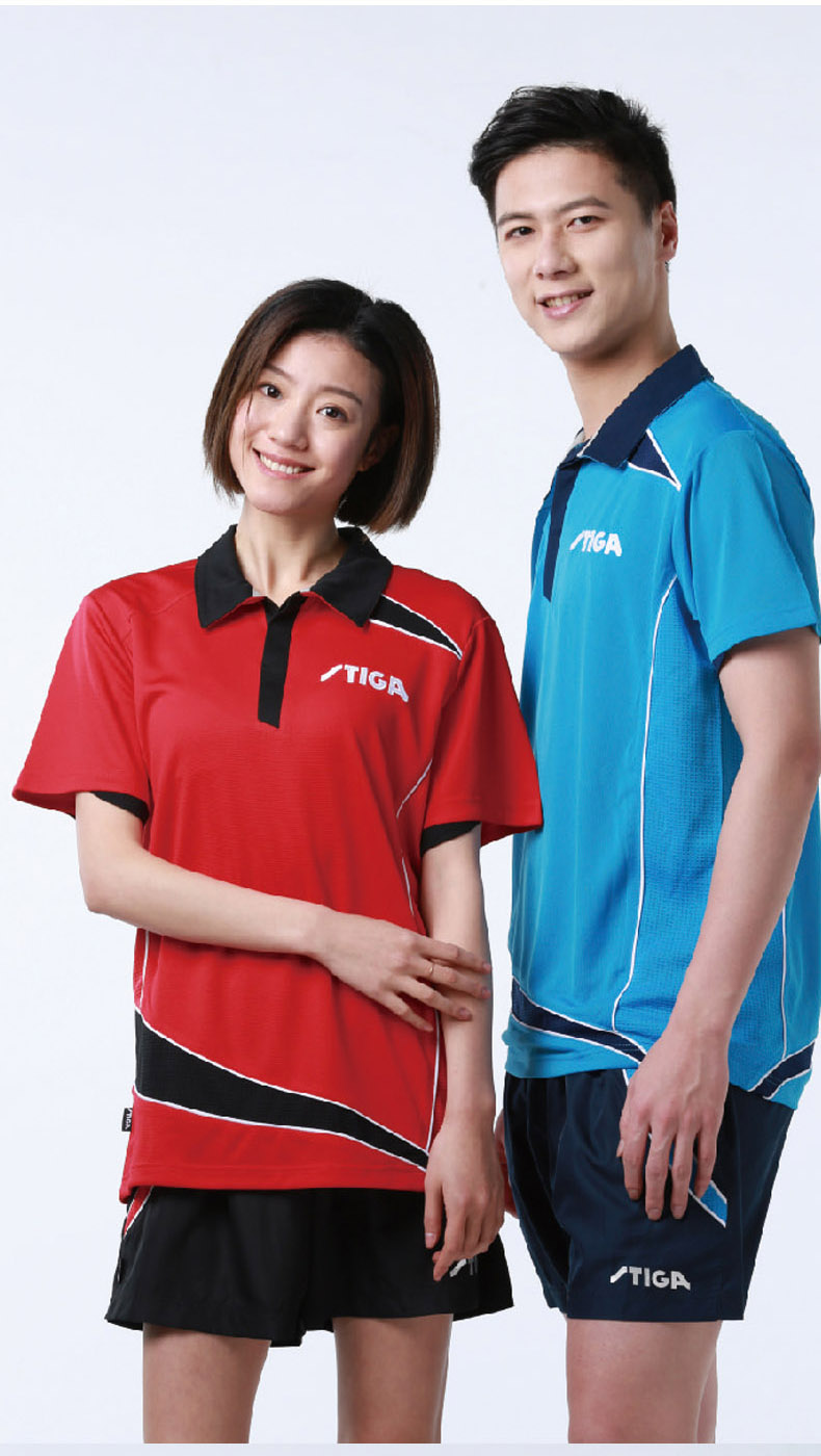 New Stiga Table Tennis Clothes Sportswear Quick Dry Short Sleeved Men Ping Pong Shirt Badminton Sport Jerseys 75121/75141(China)