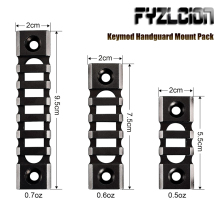 Tactical Rifle Lightweight Picatinny Rail (3-slot,5-slot,7-slot) for Keymod Handguard Mount Pack Airgun Air Rifle Accessory