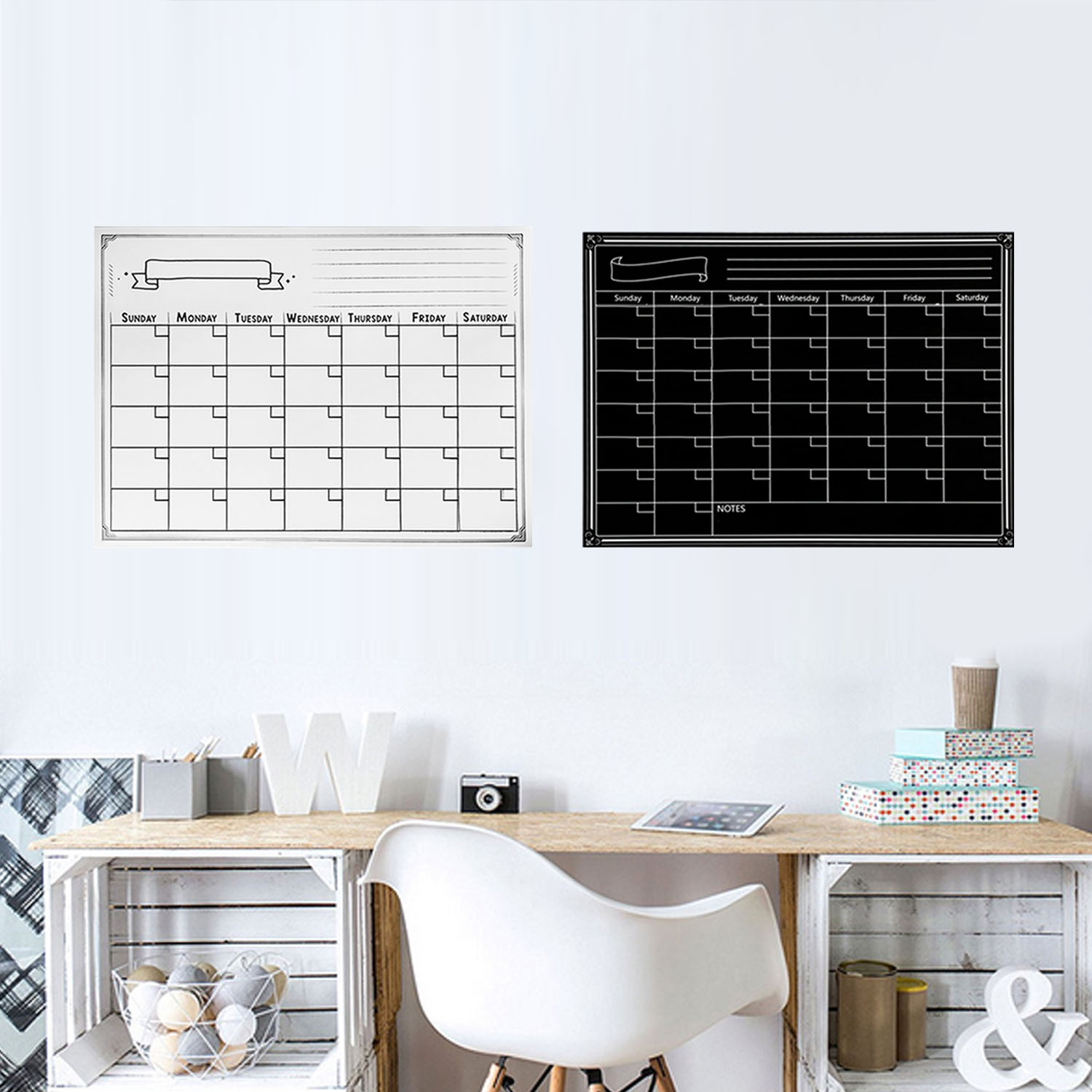 Reusable Magnetic Dry Erase Refrigerator Calendar Monthly Planner Whiteboard Board With Pen Eraser For Home Office 40x30cm