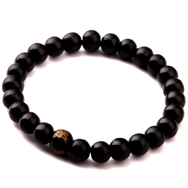 Aufstrebend Buddhismus Buddha Wort Holz Perlen Chakra Rosenkranz Armband Mann Frau Schmuck Und Verdauung Hilft