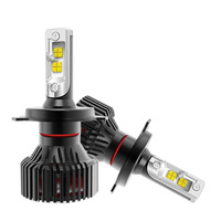 2Pcs/Lot Auto Car Light H4 H7 H11 9004 9005 9006 LED Headlight Bulb Conversion Kit, 6500K LED 8000lm Cool White Headlamp ,Black