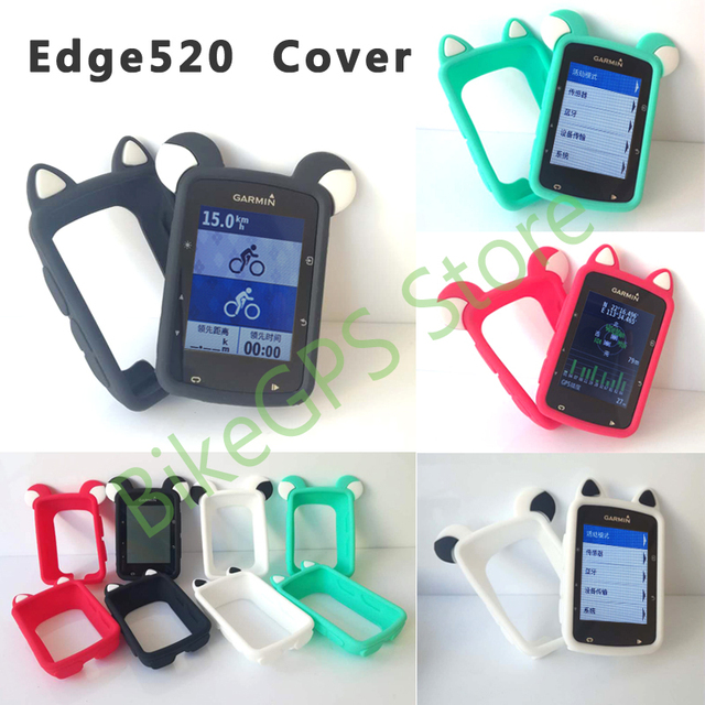 the latest 57b84 777a8 US $7.03 12% OFF|Edge 520 Bike Computer Silicone Cover Cartoon Rubber  protective case + LCD Screen Protector (For GARMIN Edge520 )-in Bicycle  Computer ...