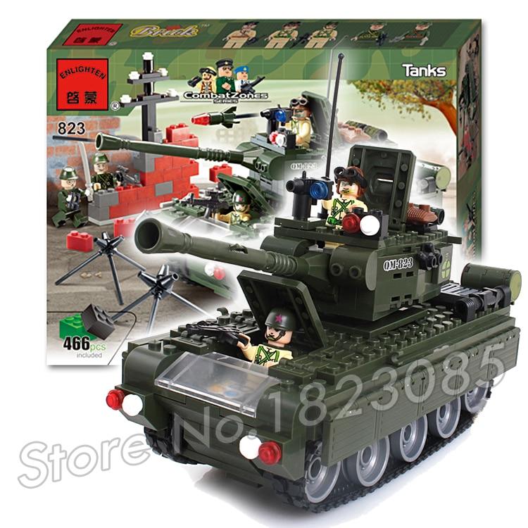 466pcs 2016 new Hot New CombatZones Tanks large model Christmas Gift Building Bricks toys