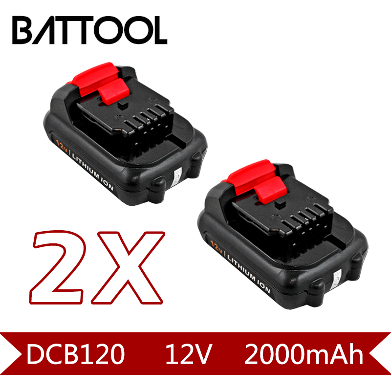 2X 2000mAh 12V Li-ion DCB120 Rechargeable Battery: Dewalt DCB120,DCB100,DCT410S1,DCT414S1,DCL510,DCF610,DCF610S2,DCD710 16 teeth 16teeth motor dc10 8v 12v for dewalt dcf610s2 dcf610 n056189 n008668 screwdrive electric drill