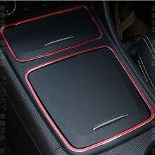 Автомобиль красный центральной консоли ящик для хранения держатель пепельница отделкой Рамки для Mercedes Benz cla gla класса W176 C117 W117 x156